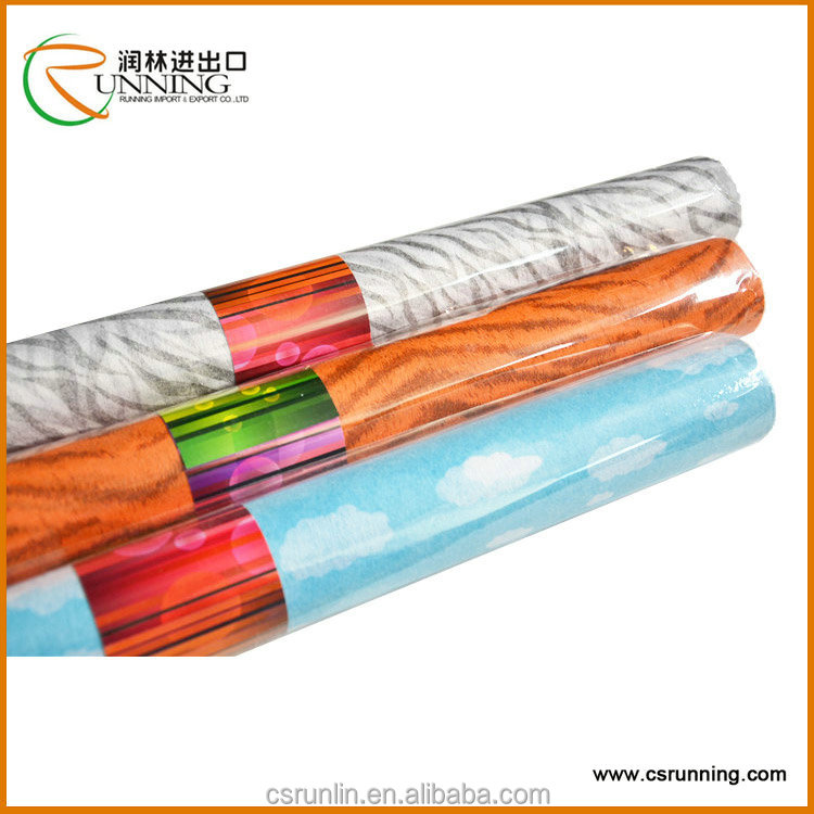 Printed flower packaging roll non woven fabric
