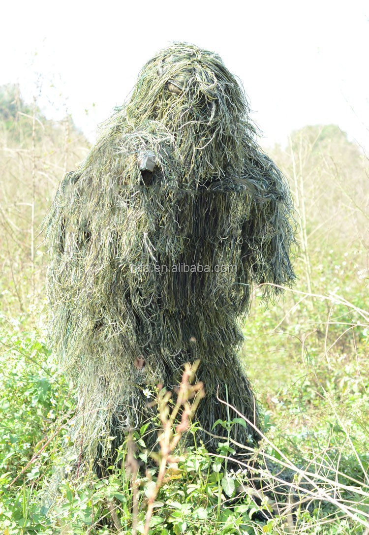Durable Forest Yowie Sniper Suit 3D Camo Ghillie Suit for Hunting