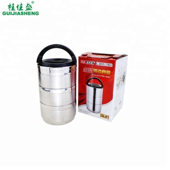 High quality 304 Stainless steel portable insulated hot lunch box/food storage container/round thermos food warmer