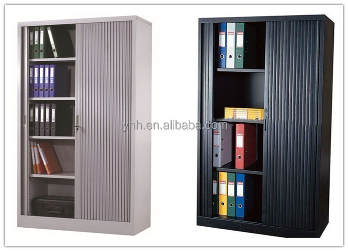 Low Metal Low Roller Shutter Door Office Cabinet Storage Solution