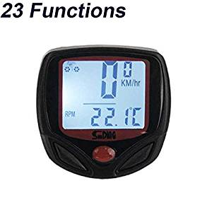 EverTrust(TM) 23 Functions Sunding Waterproof Wired Bike Computer Digital LCD Backlight Bicycle Speedometer Odometer Bike Accessories