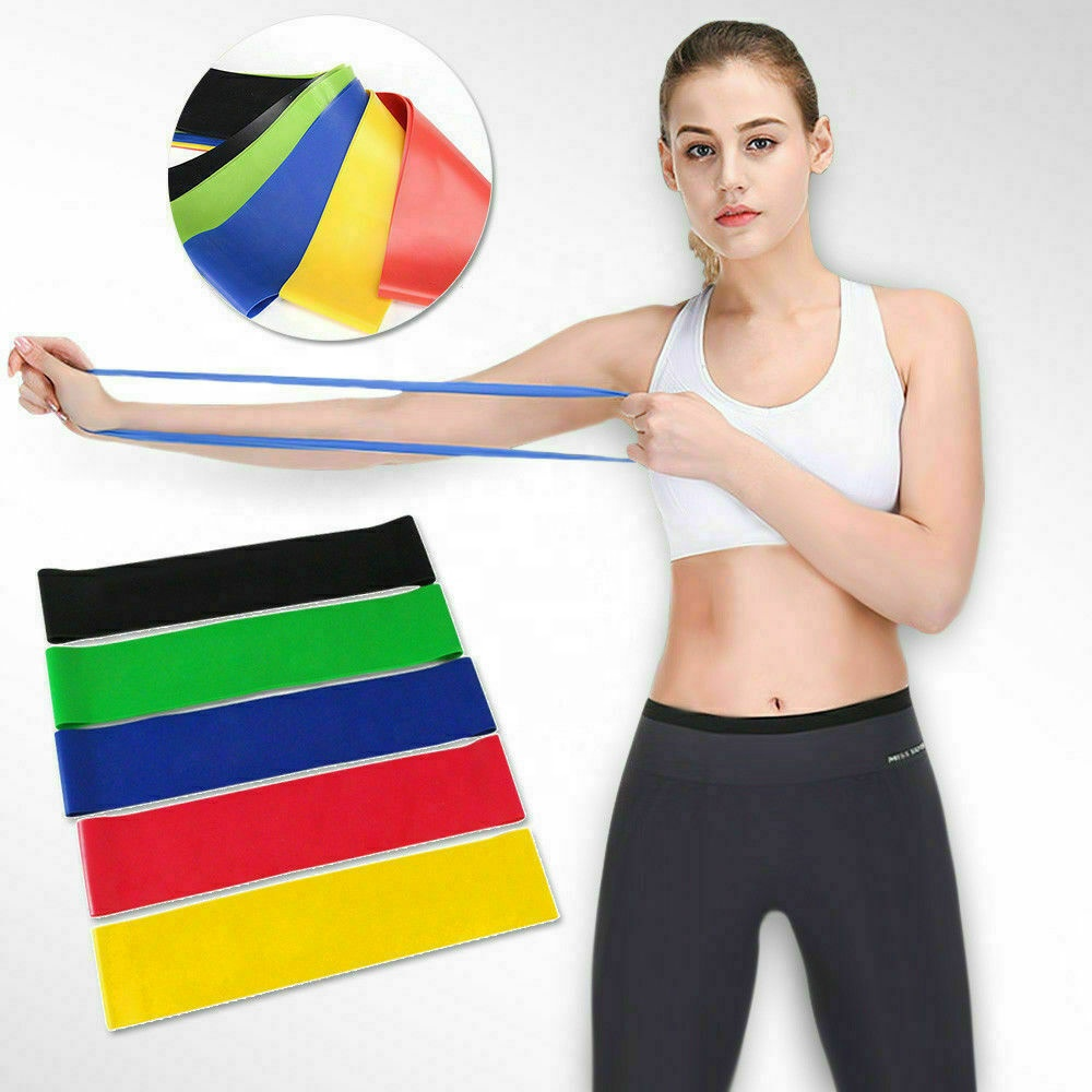 Yoga Widerstand Gummi Bands Indoor Outdoor Fitness Geräte Pilates Sport Training Workout Elastische Bands