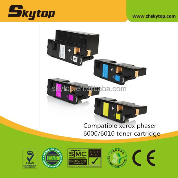 Skytop Compatible Xerox phaser 6010 6000 toner cartridge 106R01631/2/3/4 laser toner