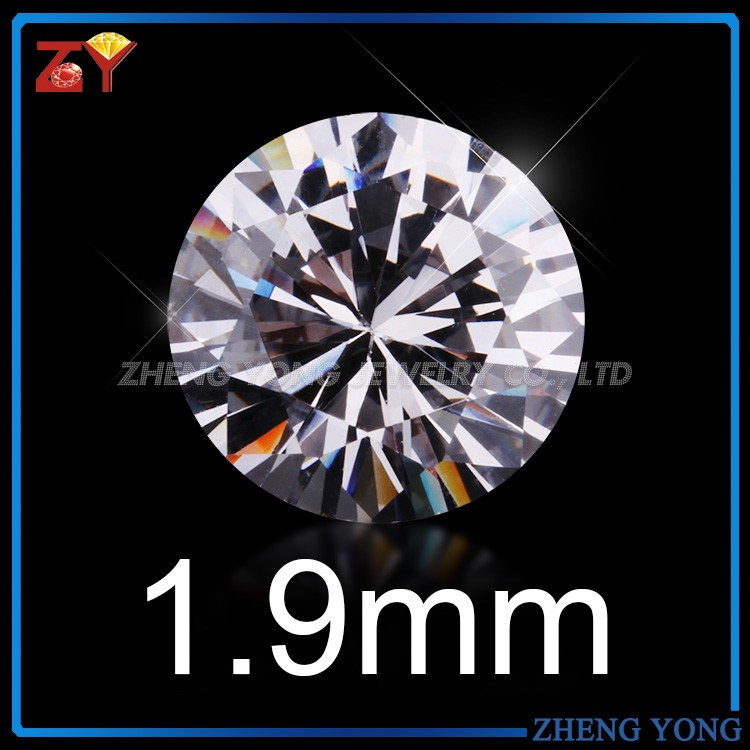 AAAAA loose cz gemstone wholesale price 1mm 3mm to 12mm star cut cz round cubic zirconia
