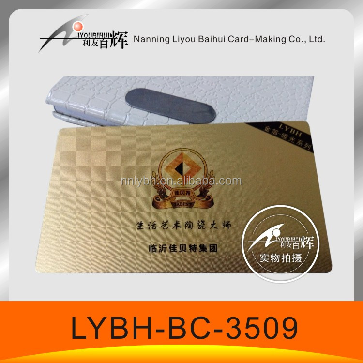 great name card for company design and print simple style impressive Gold foil PVC business card(matte surface)