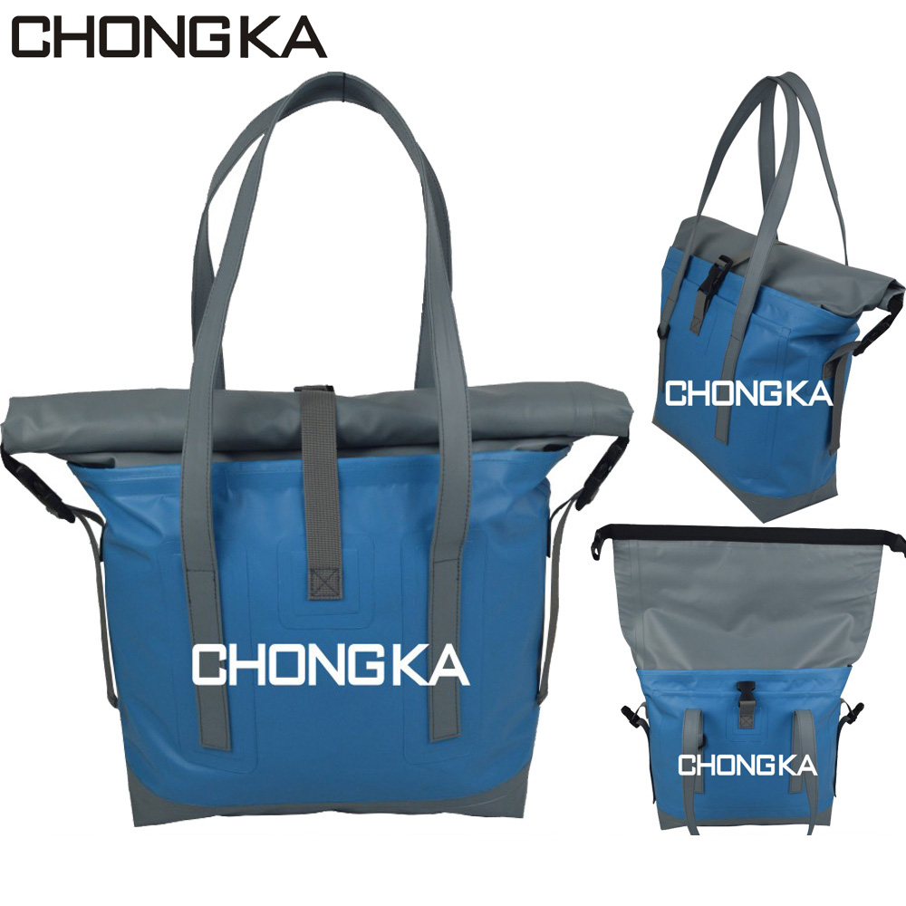 high quality waterproof pvc shoulder tote bag duffel handbag