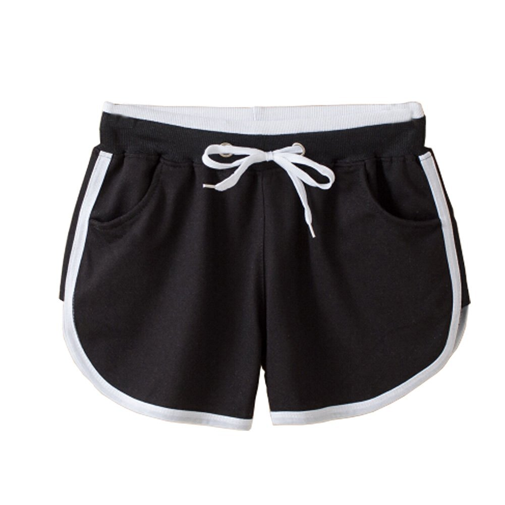 07aa78cf6790 Buy Fashion Girls Sports Shorts Breathable Yoga Running Black Shorts ...