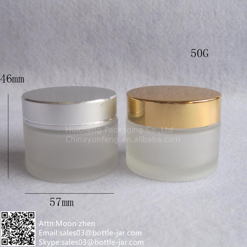 3290cc97b597 Wholesale 50g Frosted Glass Cosmetic Jars For Cosmetic Use - Buy Glass  Cosmetic Jars,50g Cosmetic Cream Jar,Frosted Glass Cosmetic Jar Product on  ...