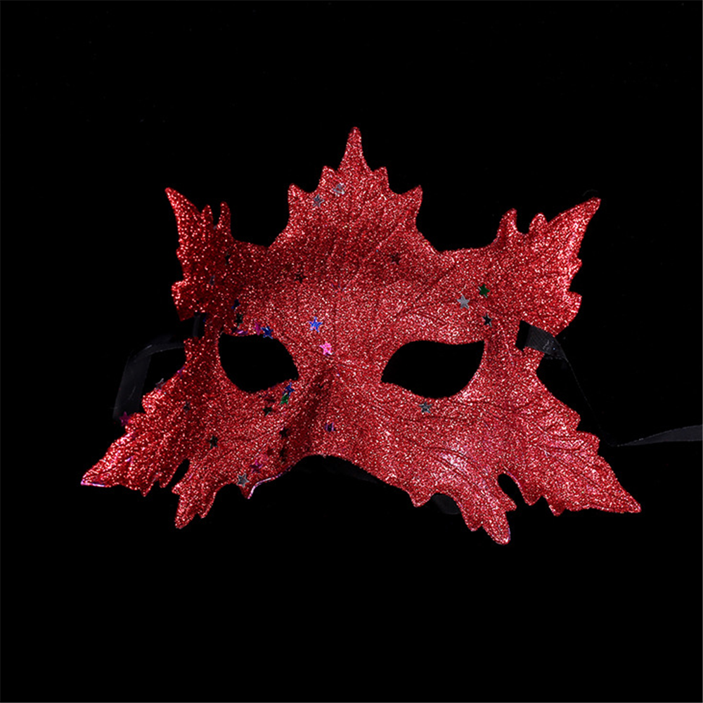 PM-817 Maple Leaf Full Glitter Masquerade Party Ball Eye Mask