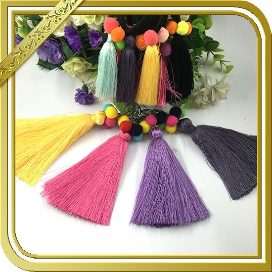 2017 New Arrival fancy colorful tassel wholesale silk tassels FT-009