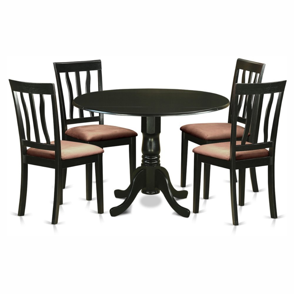 Get Quotations · East West Furniture Dublin 5 Piece Drop Leaf Dining Table  Set with Microfiber Antique Chairs - Cheap Antique Furniture Dining, Find Antique Furniture Dining Deals