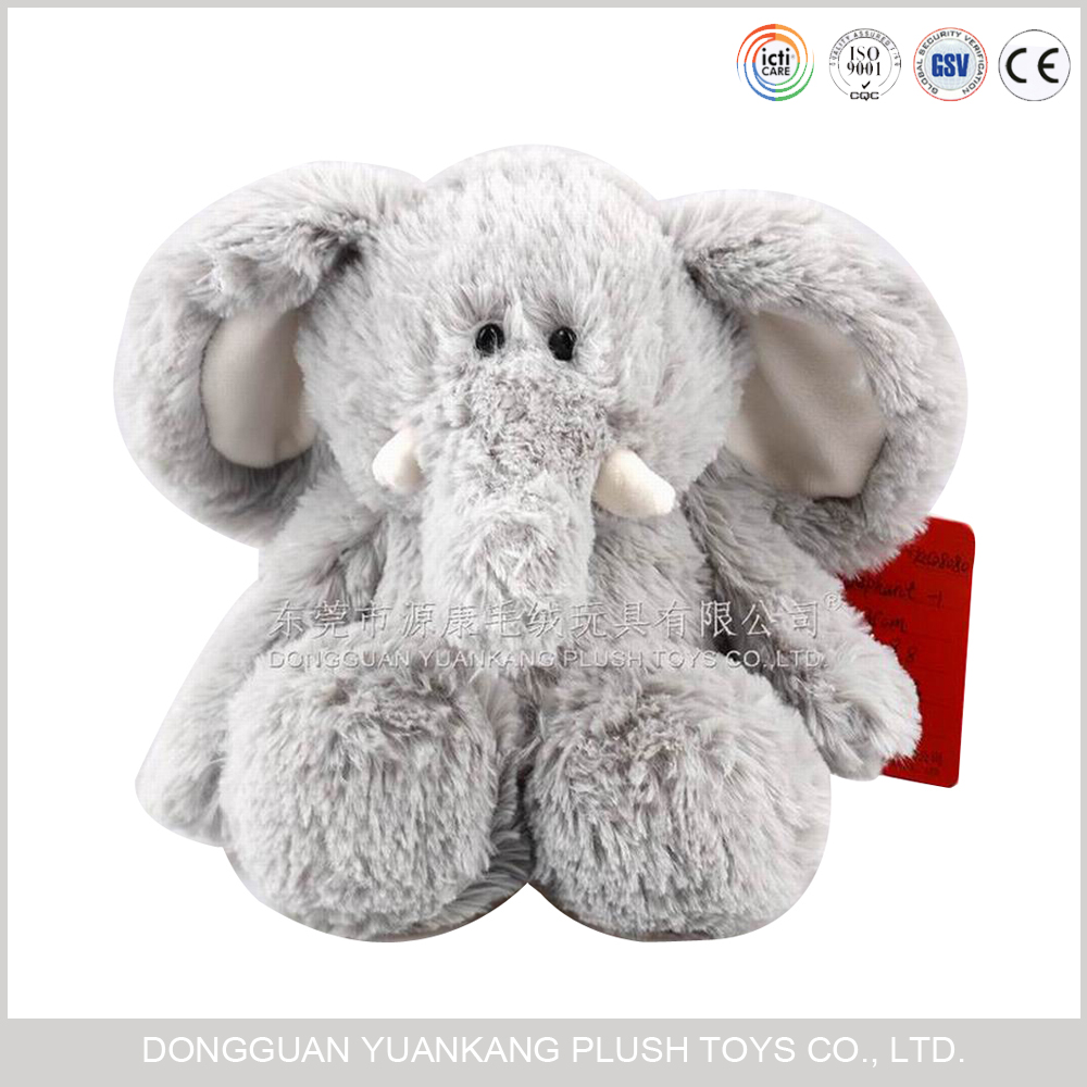Guangdong 25cm custom plush and stuffed elephant toys with big ears plush elephant
