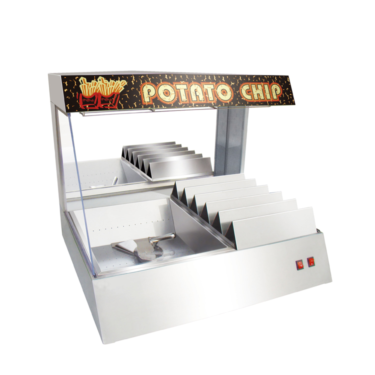 0.8m Commercial Counter Top Potato Chips Warming Station