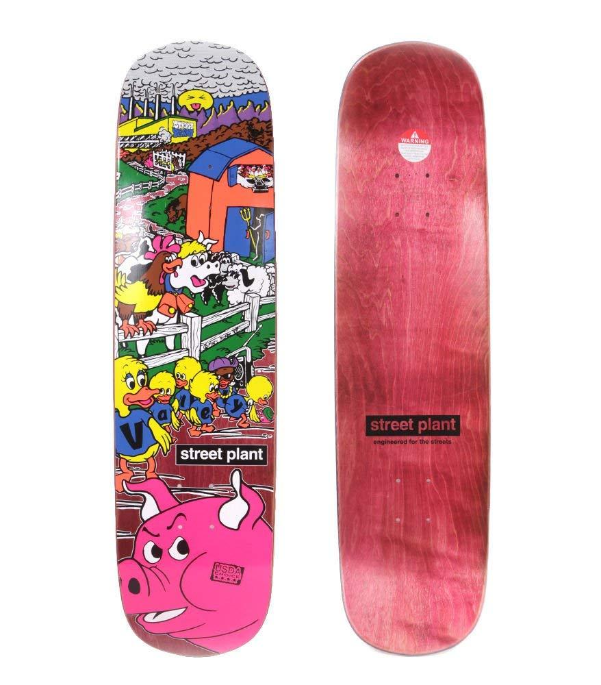 "lordofbrands Monopatín skate skateboard deck STREET PLANT M. Barnyard Deck - WINE RED 8,3"""