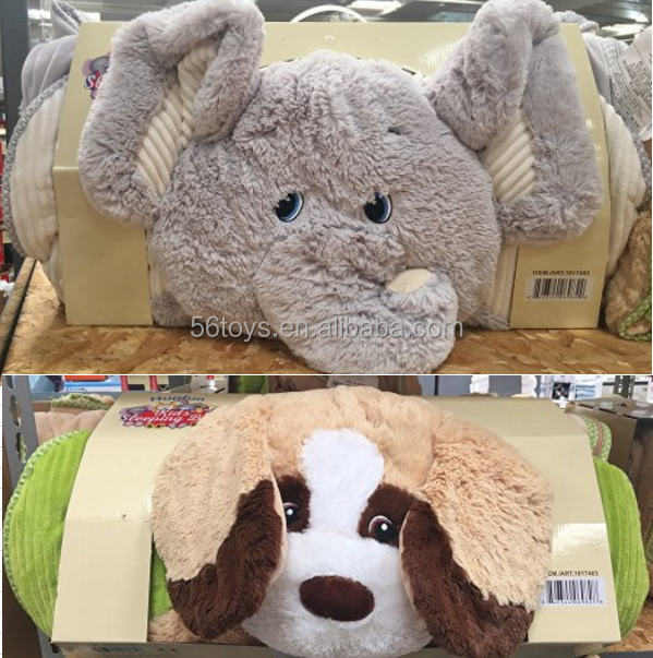 China Manufacturer Custom OEM Plush Sleeping Bag with Animal Character Head