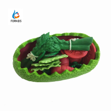 18pcs deluxe soft toys vegetable saladwith bows and spoon