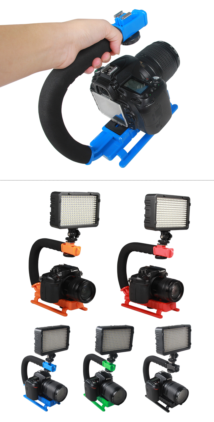 YELANGU Handheld Camera DV C-shaped Video Bracket Steadicam Stabilizer for DSLR Camera Easy to Shooting
