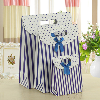 Paper Party Hand Bags Gift Sweet Treat Candy Party Wedding Bag Assorted Colours