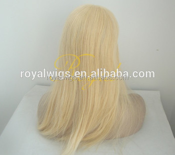 Wholesale hair pieces top quality mongolian hair blond color women wigs  topper f5b37c418