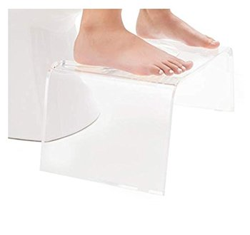 Custom clear squatty acrylic toilet step stool plastic bathroom stool