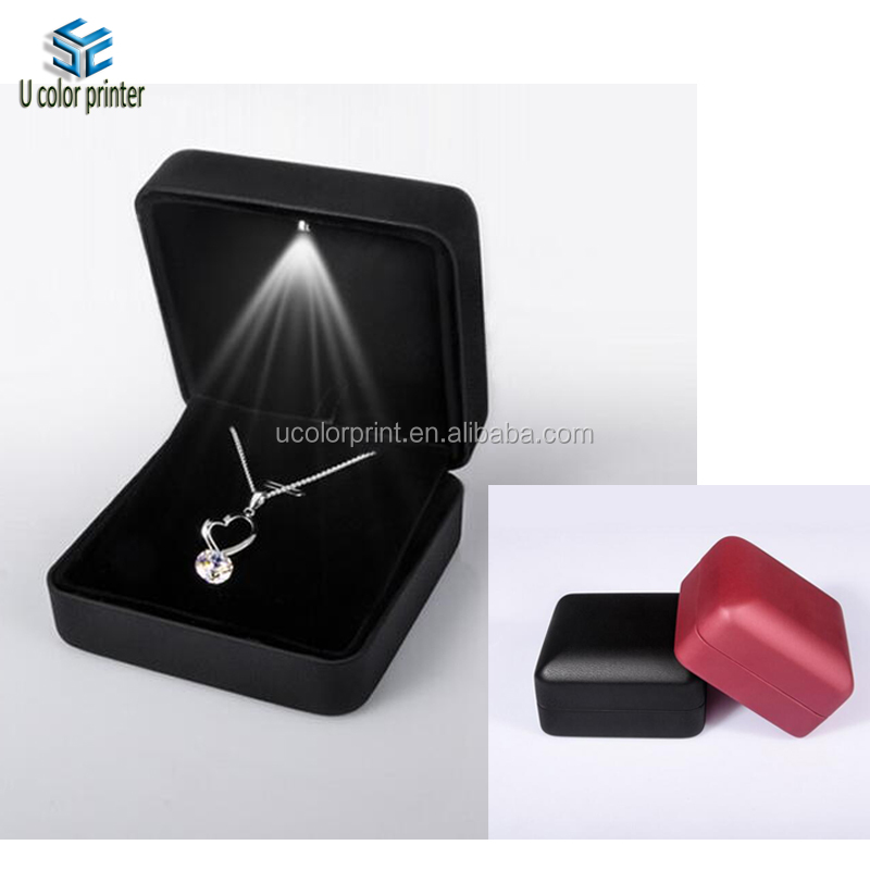 U Color Made Personalized Led Jewelry Box For Rings And Necklace