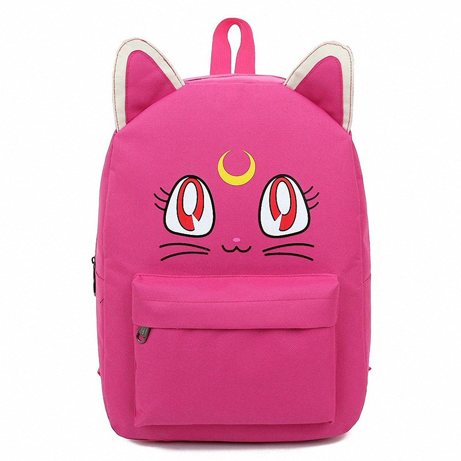 d564d5b08453 Get Quotations · Harajuku Style Sailor Moon Canvas Backpacks for Teenage  Girls School Bags Cute Fold Cat Book Bag