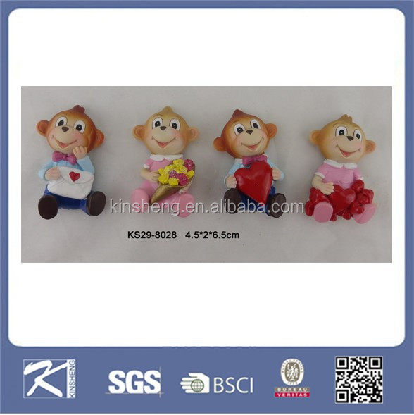 Home ornament monkey souvenir resin fridge magnet