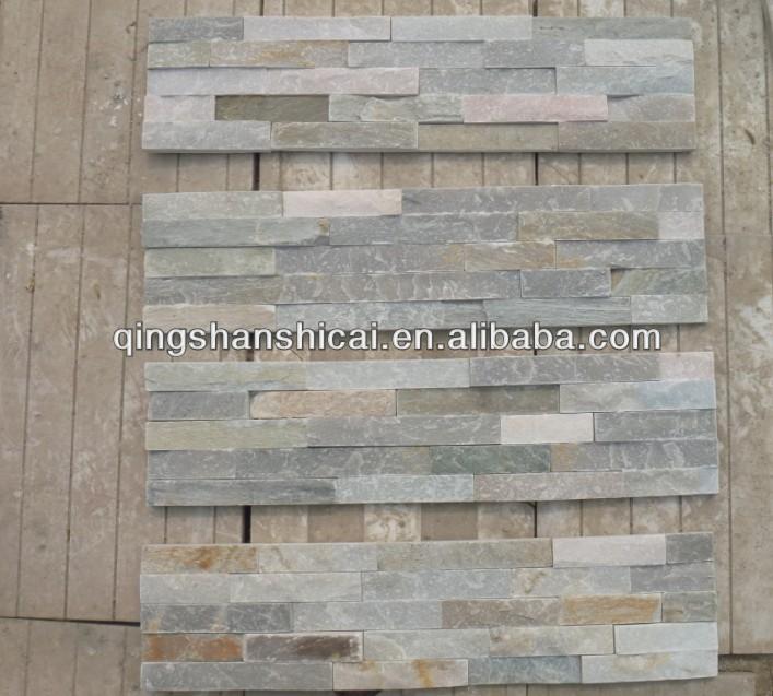 2014 Natual Color Split Beige Oyster Slate Stack Stone Ledger Tiles