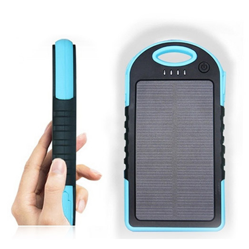 2015 New solar charger 8000mah Portable Waterproof Solar Power Bank Dual-USB Solar Battery Charger for xiaomi iphone5s 6