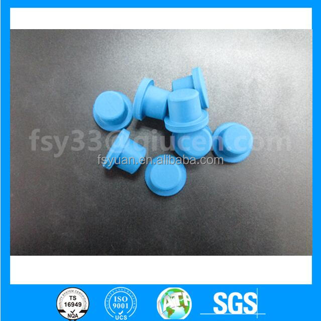 custom made blue rubber butyl stopper 20mm size for glass vials