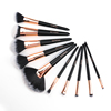 O.TWO.O 10Pcs/Set Makeup Brushes Powder Foundation Eye Shadow Lip Blend Make Up Brush Tool Kit Maquiagem Soft Synthetic Hair