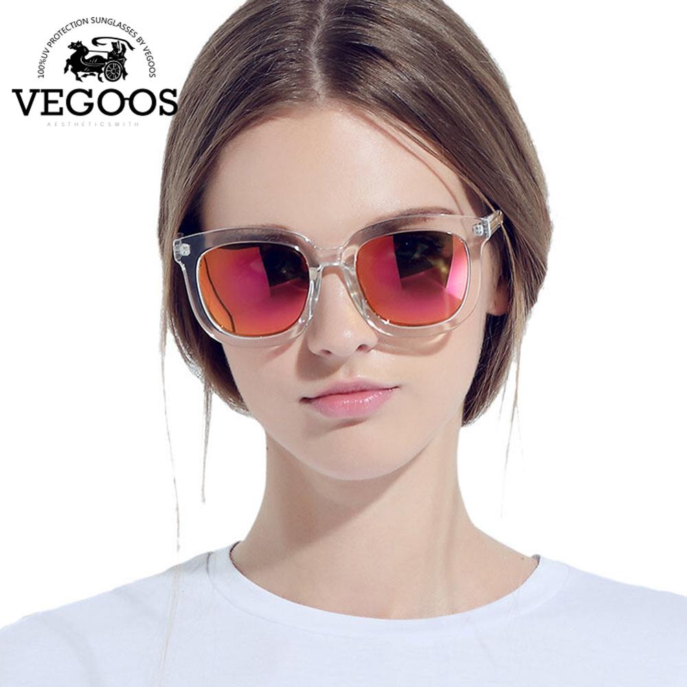 2425d267348f VEGOOS Luxury Brand Designer Polarized Sun glasses women Mirrored Square  Retro Sunglasses