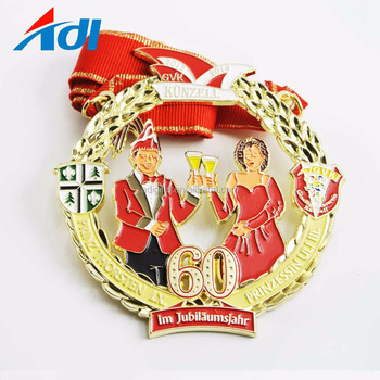 custom your beautiful design metal medaille carnival medal with ribbon