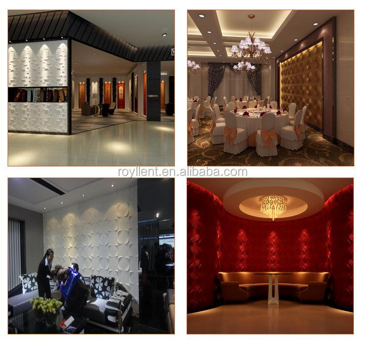 2015 new design 500*500mm cheap 3d PC wallpapers for interior wall decoration