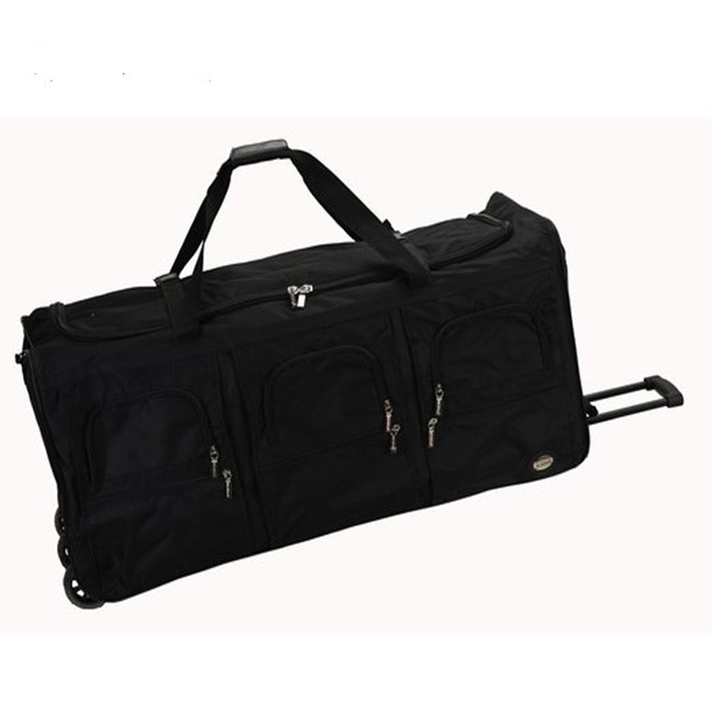 40 Inch black fashion vintage style luggage