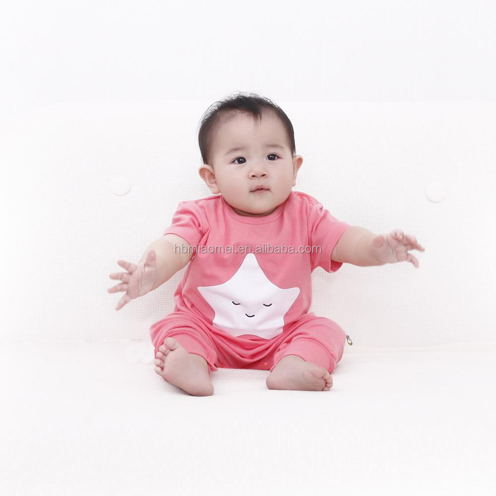 4ac6161d9 2017 Kids Modeling Clothes Baby Girls Cotton Plain Rompers From ...