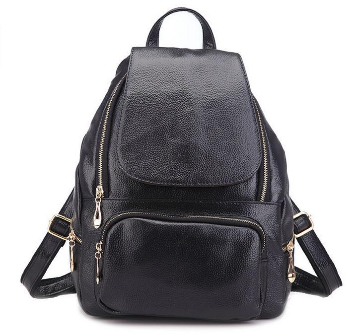 d2e480d08 Get Quotations · Women Cowhide leather backpack 2015 New Fashion female  shoulder bag Leather school bags satchels Purses BH6010