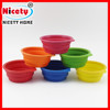 Colorful fancy silicone dog collapsible bowl for outdoor