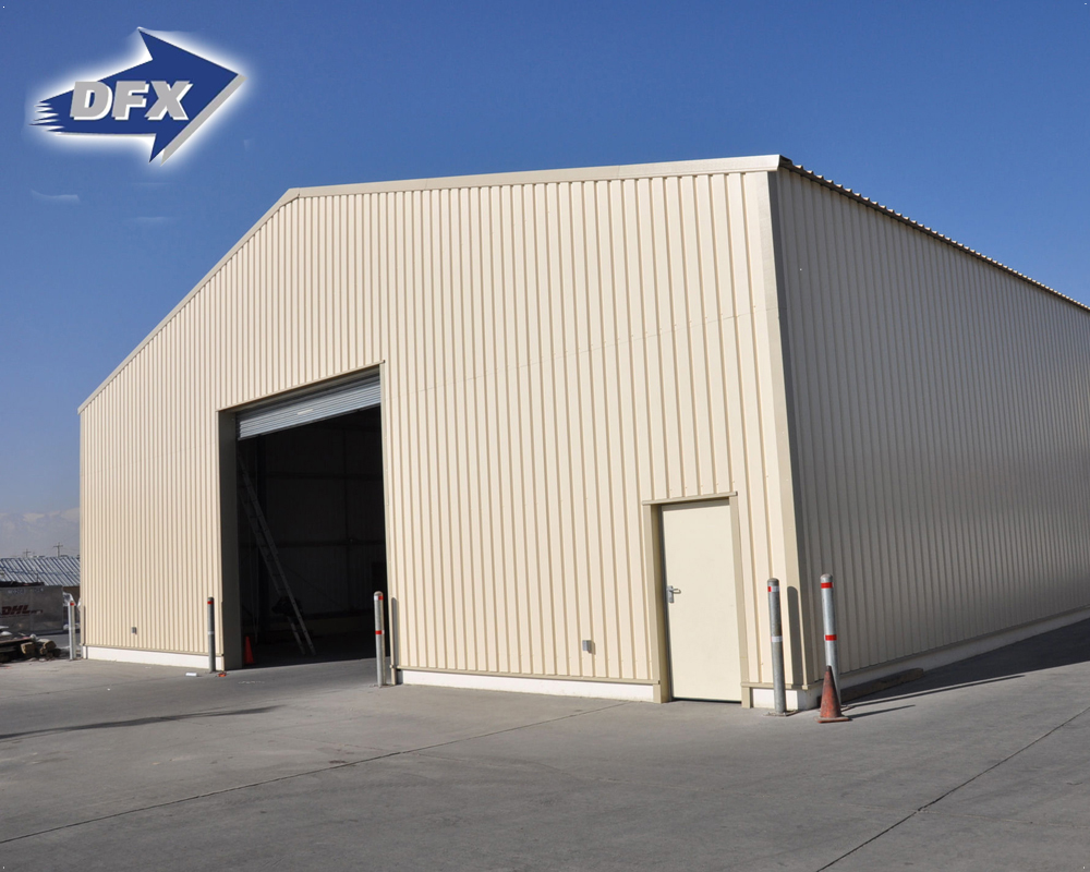 Storage prefabricated steel structure auto parts warehouse