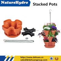 Hot selling garden plastic stacking plant pot