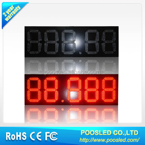 led gas price sign\led fuel pricing board \ outdoor 88.888 gas station led price sign