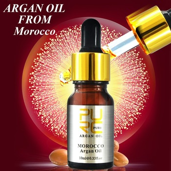 Straightening hair after best natural argan oil serum give hair more nutrition and therapy