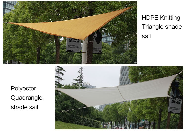 Canvas Shade Sail,Garden Beige Color Triangle Sun Shade