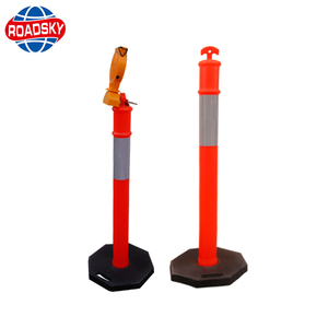PE Traffic Bollard Reflective Traffic Delineator 115 Warning Post