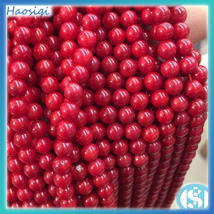 Bulk sell 6mm 8mm natural red round coral bead