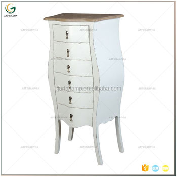 Shabby French Chic White 6 Drawer Tallboy Chest Style Bedroom Furniture -  Buy Shabby Chic French Tallboy Chest Product on Alibaba.com