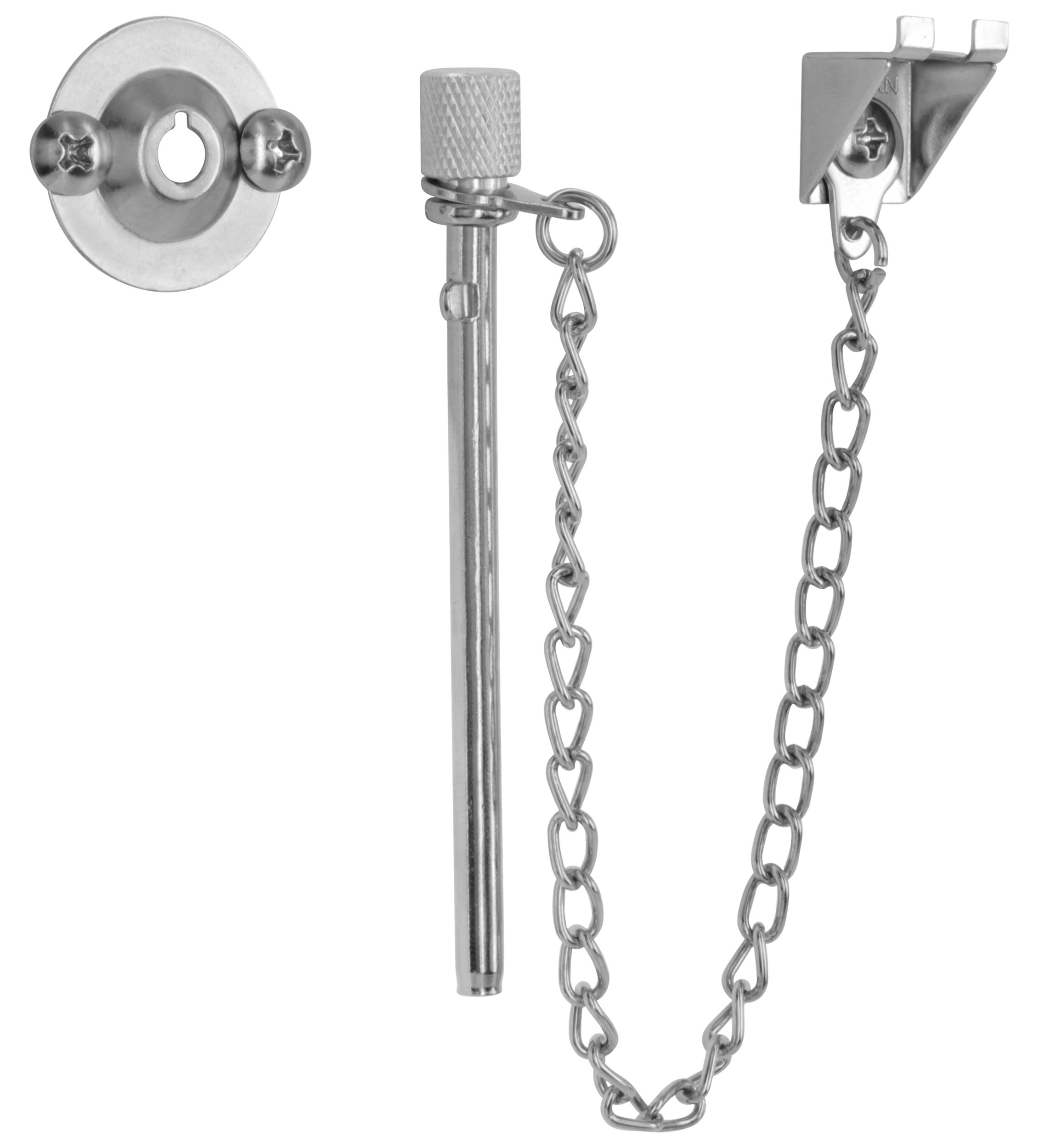 "Ram-Pro Extra Long 3-1/2"" Window Security Guard Pin Lock Set for Sliding Doors & Windows"