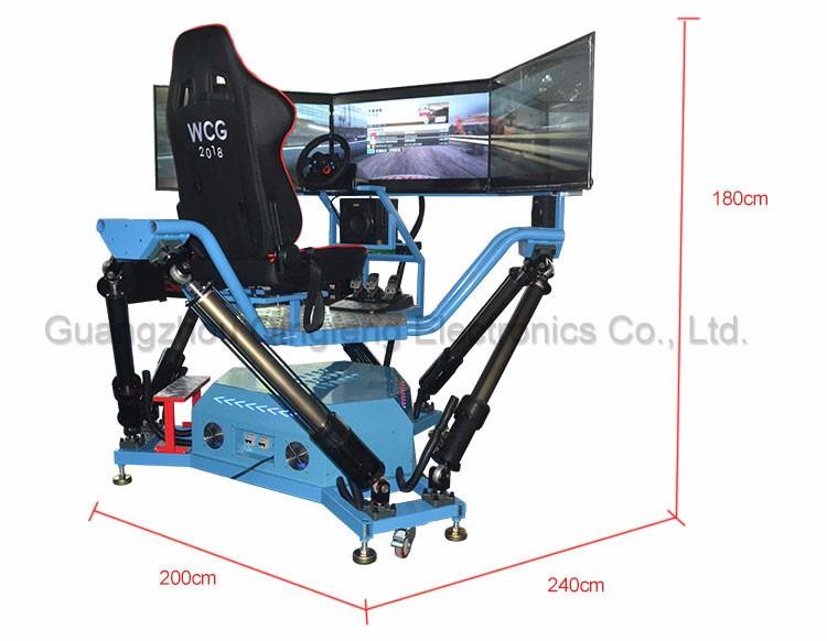 simulator Six-axis-Dynamic-Car arcade vr car racing video game machine