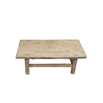 Antique Chinese Old Elm Wood Natural Color Strong Rustic Coffee Table Tea  Table