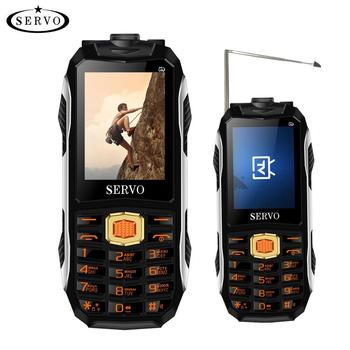 low price China TV cell phone rugged Mobile phonespower bank 2.4 inch in 2018